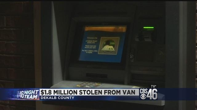 Van carrying $1.8 million stolen from outside bank