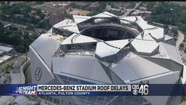New details about problems with roof at mercedes benz for Will call mercedes benz stadium