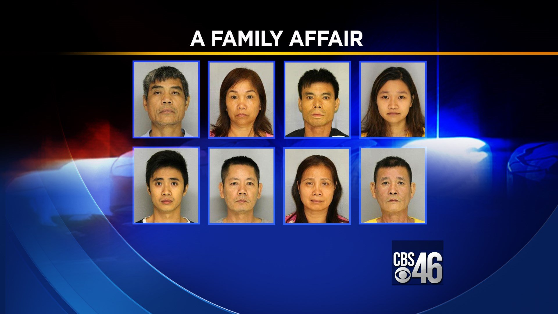 Eight members of a family are accused of running a sophisticated marijuana growing operation