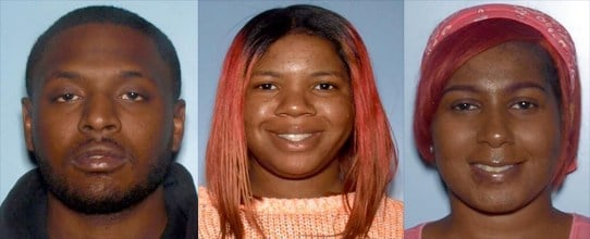 Nicholas Gates, Tiesha Dunbar, Natiya Pope (Source: Gwinnett County Police Department)