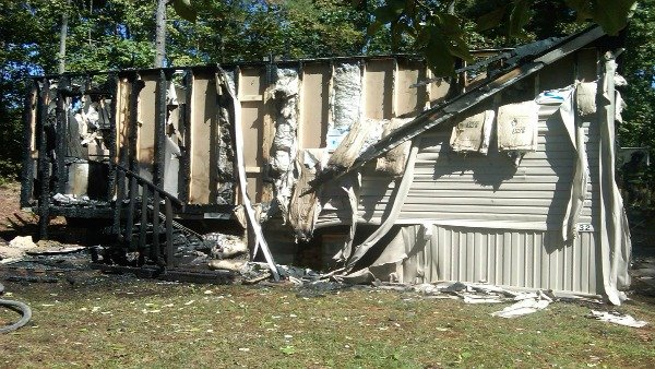 Gwinnett Firefighters Battle Mobile Home Fire