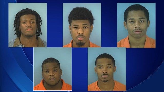 Brandon Wallace, Trevion Hinesman, Daevon Speller, Dante Stubbs, Terrance Coffil (Source: Fayetteville PD)