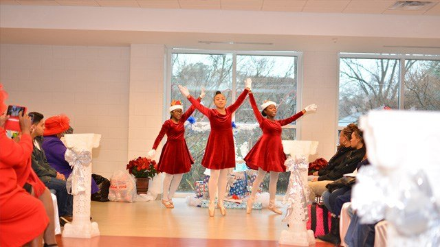 """Performers at the """"Being a Blessing to Kids in Need Christmas Event."""" The event, held Dec. 17, featured a fashion and talent show, food and a toy giveaway to more than 40 Metro Atlanta families in need."""
