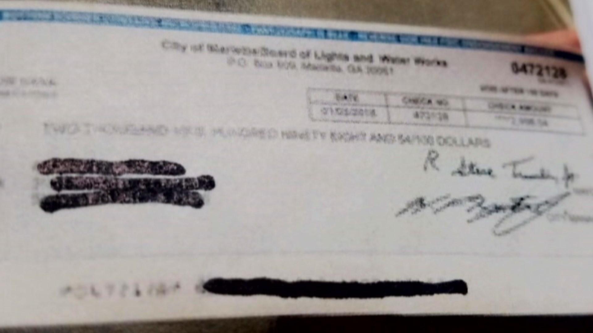 one of the fake checks