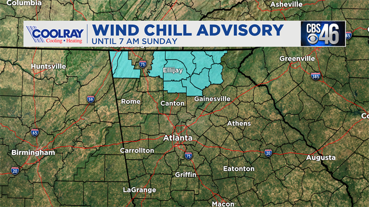 Wind Chill Advisory in effect for Tuesday morning