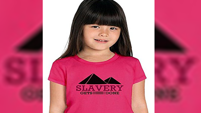 Amazon pulls kids clothes bearing 'Slavery gets shit done' slogan