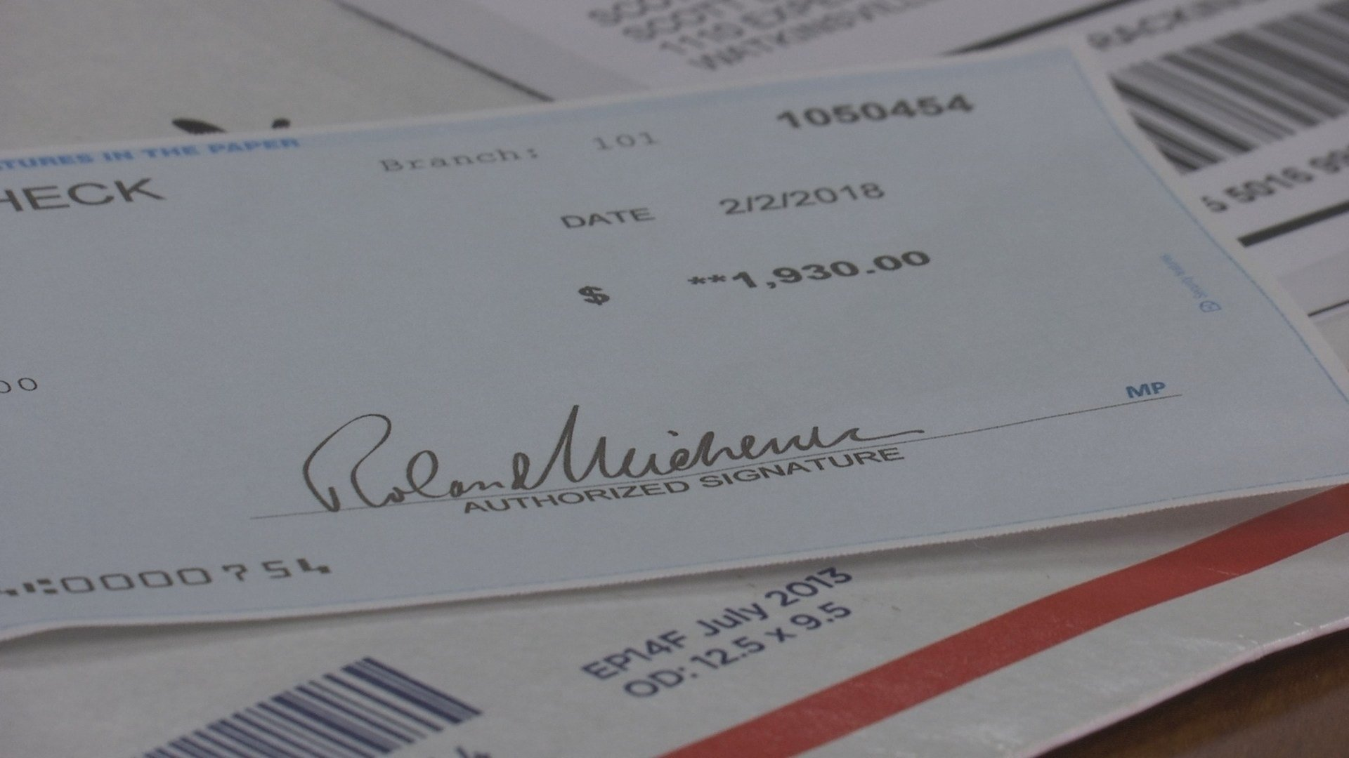 fake check addressed to Oconee County Sheriff (WGCL)