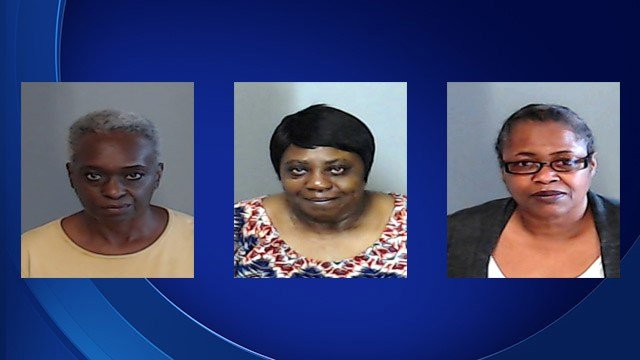 Loyce Agyeman, Mable Turman and Wanda Nuckles have each been charged in the death of a nursing home resident. (Source: DeKalb County Sheriff's Office).