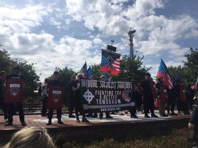 Neo-Nazi group leaves Newnan, burns swastikas in west Georgia