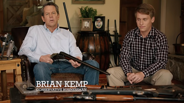 Georgia governor candidate defends campaign ad where he points shotgun at teen