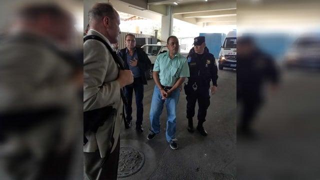 Hector Garay as he was released from El Salvador authorities to FBI Atlanta. (Source: FBI Atlanta)