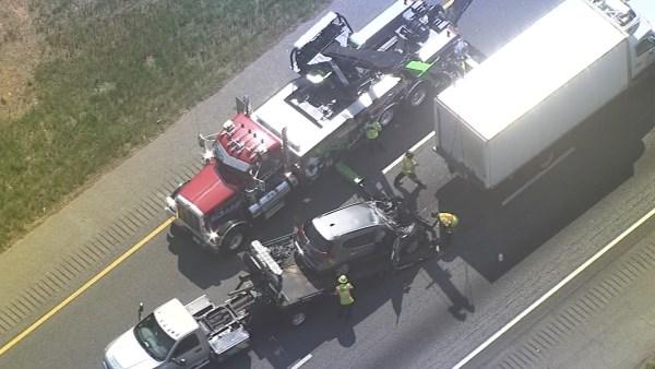 Crash on SB I-75 (Source: WGCL)