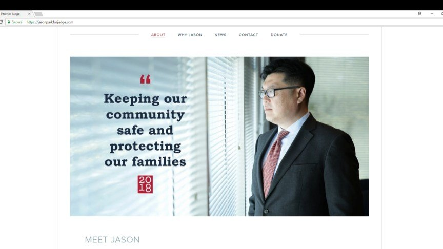 Jason Park For Judge web site