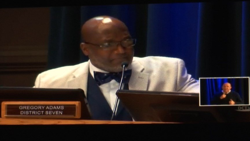 Gregory Adams at Commissioner's Meeting