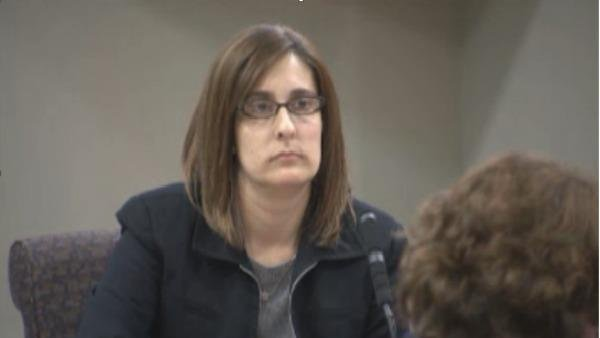 Andrea Sneiderman, Rusty Sneiderman's wife, was banned from the courtroom Friday