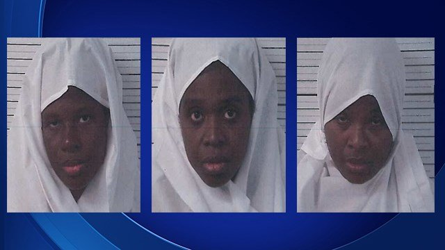 Subhannah Wahhaj, Jany Leveille and Hujhrah Wahhaj were each arrested at the compound found in Mexico. (Source: Taos County Sheriff's Office)