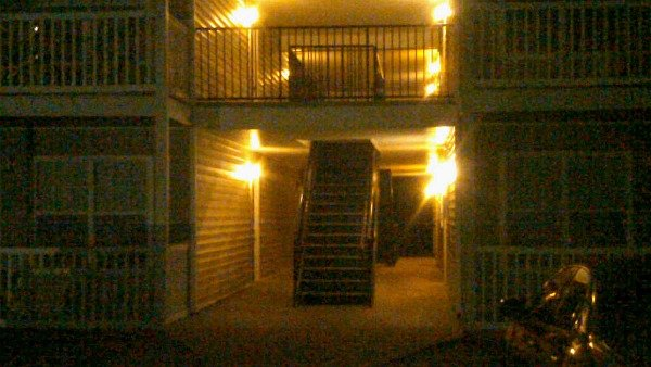 Rebekka Schramm/CBS Atlanta- Two armed men forced their way into this Clayton County apartment.