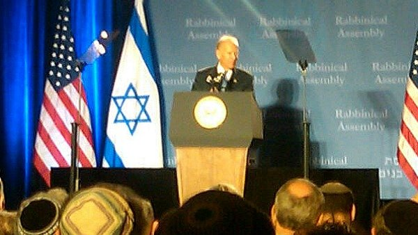 Biden speaks on stage