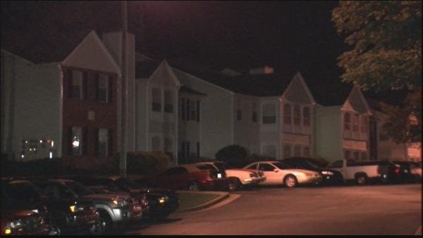 Mark Melvin/CBS Atlanta- Two officers were struck by a car at the Jefferson at Champions Parkway Apartments.