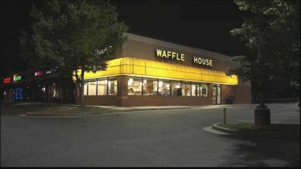 Mark Melvin/CBS Atlanta- The suspect was apprehended during a traffic stop near a nearby Waffle House.