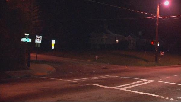 Steve White/CBS Atlanta- A man was fatally shot late Monday at the intersection of Astor Ave and Sylvan Rd.