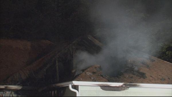 Steve White/CBS Atlanta- The house was moderately damaged in the fire.