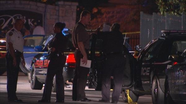 Mark Melvin/CBS Atlanta- Two men were shot, one fatally, after a Wednesday night traffic stop.