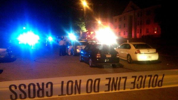 Mark Melvin/CBS Atlanta- Police investigate a double shooting in DeKalb County