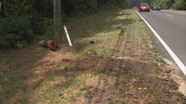 Darren Cook/CBS Atlanta- A man was killed and four were injured in a wreck Saturday night.
