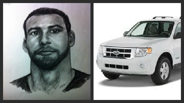 Suspect sketch, Ford Escape