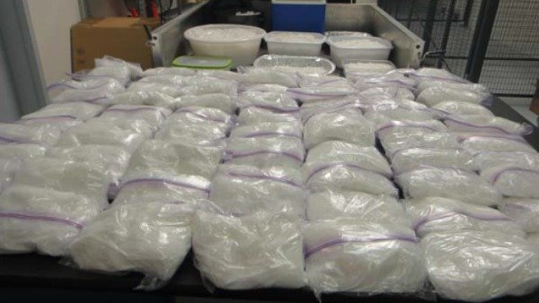 crystal meth recovered by police
