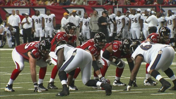 Steve Franklin/CBS Atlanta- The Falcons squared off against the Baltimore Ravens Thursday night.