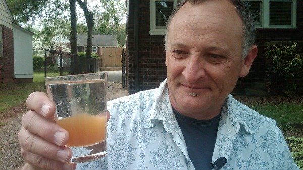 Ray Ellis and his brown tap water