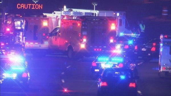 Richard Breaden/CBS Atlanta- Emergency crews respond to a wrong way driver crash on GA 400 Wednesday morning.