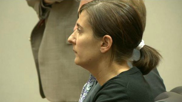 Andrea Sneiderman in court during bond hearing
