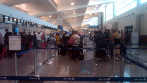 Lines at Hartsfield-Jackson Atlanta International Airport
