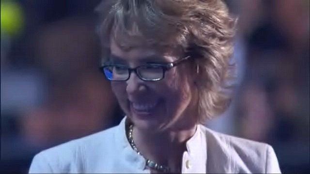 Gabby Giffords at the DNC (Source: CNN)