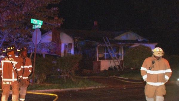 Mark Melvin/CBS Atlanta- No one was hurt in an overnight fire that heavily damaged a northwest Atlanta home.