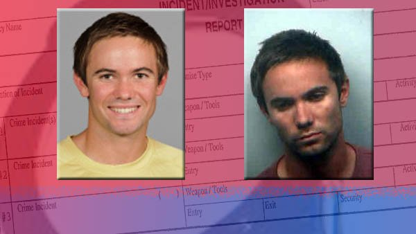 Left: Photo from GA Tech  Right: Mugshot from Pollock's arrest