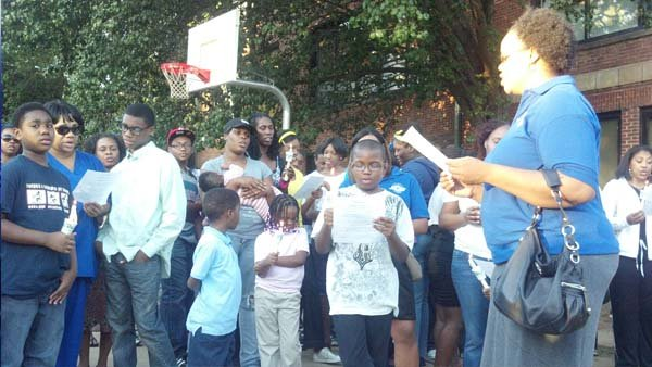 Students and staff at Kipp Ways Academy gathered to remember a mother and daughter killed over the weekend.