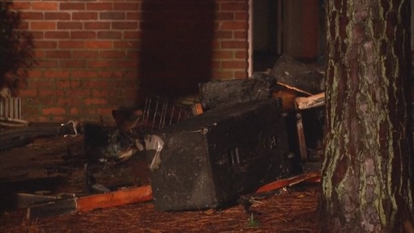 Mark Melvin/CBS Atlanta- Fire crews extinguished the fire on Dantel Court, but not before the home suffered significant damage.