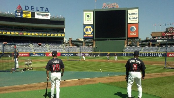 Practice on Thursday at Turner Field