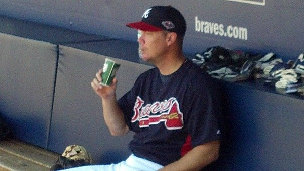 Jones in the dugout