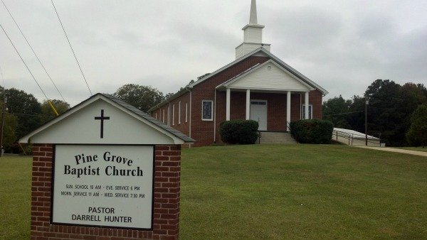 Pine Grove Baptist Church, next to Walmart