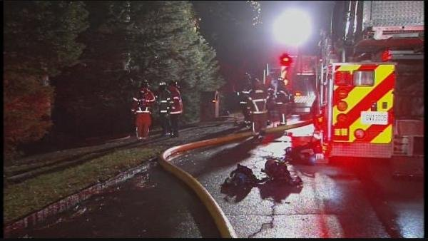 Mark Melvin/CBS Atlanta- Fire crews found heavy smoke and flames when they arrived on scene early Monday.