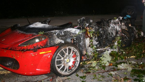 The burned Ferrari (Courtesy: Alpharetta Police)