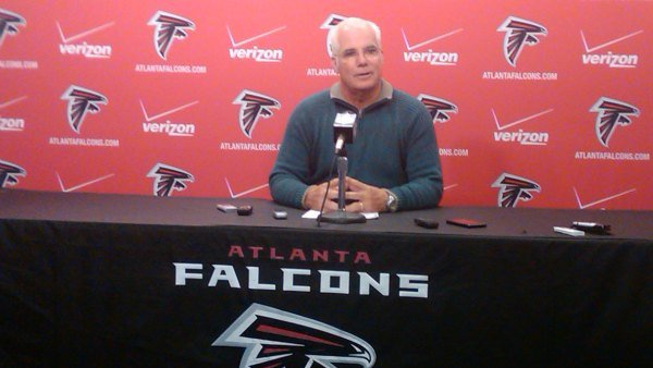 Coach Smith during Monday's press conference
