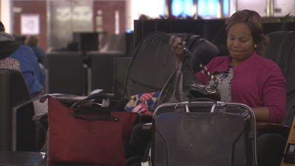 Magdelene Sandy stranded at Atlanta's airport