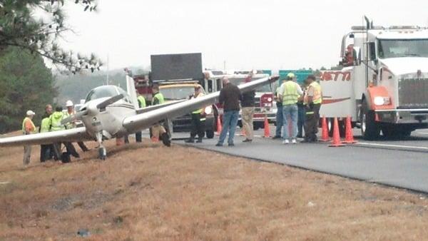 Scene of the landing