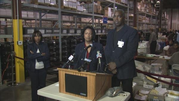 Fulton County's elections director and board chairman address reporters